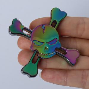 Skull Finger Gyro Stress Relief Toy Pirates Alloy Fidget Spinner - Multicolore