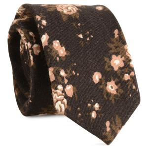 Cotton Blending Retro Flowers Printed Tie