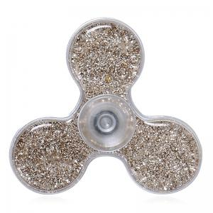 Flowing Glitter Powder Plastic Fidget Spinner Fiddle Toy - Champagne Gold