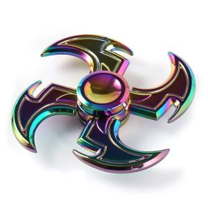 Axe Shape Rainbow Fidget Toy Hand Spinner - Colorful - 7*7*1.5cm
