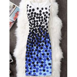Polka Dot Sleeveless Pencil Dress