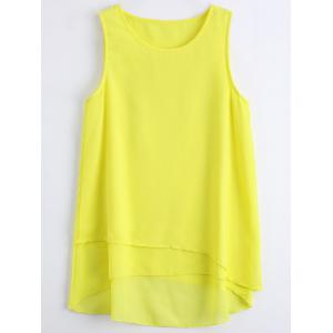 Sleeveless Asymmetric Chiffon Top