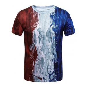 French Watercolor Painting Short Sleeve T-shirt
