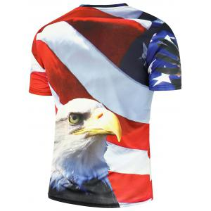 American Bald Eagle American Flag T-shirt patriotique imprimé -