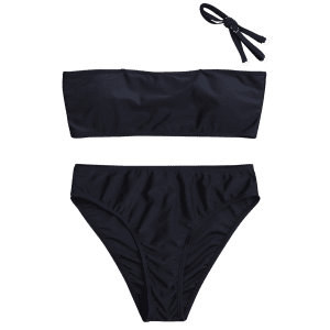 High Cut Bandeau Bikini Set -