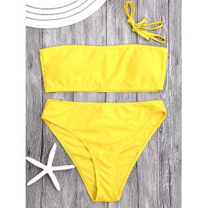 High Cut Bandeau Bikini Set