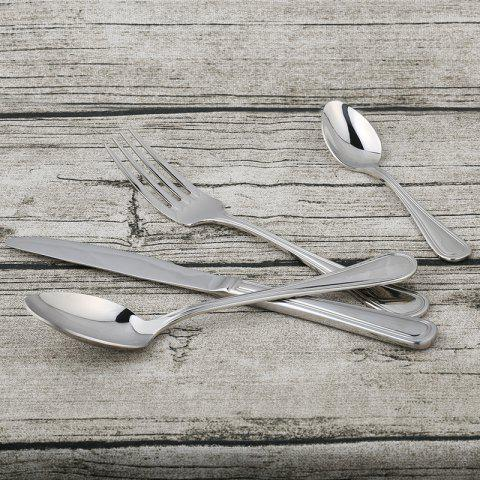Buy Teaspoon Fork Spoon Knife Stainless Steel Tableware - 1 SET STAINLESS STEEL Mobile