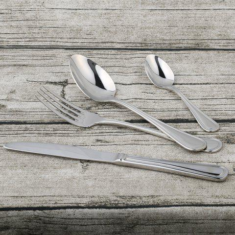Sale Teaspoon Fork Spoon Knife Stainless Steel Tableware - 1 SET STAINLESS STEEL Mobile