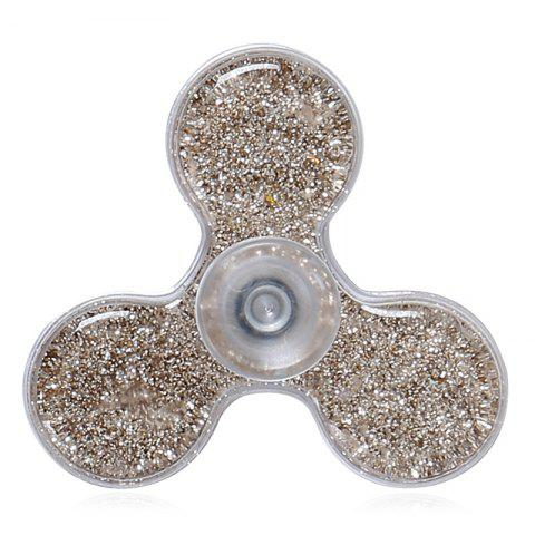 Flowing Glitter Powder Plastic Fidget Spinner Fiddle Toy