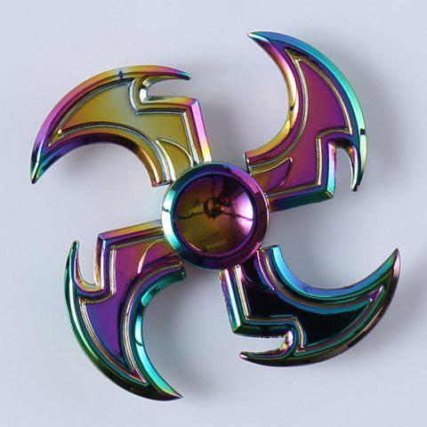 Outfit Axe Shape Rainbow Fidget Toy Hand Spinner - 7*7*1.5CM COLORFUL Mobile