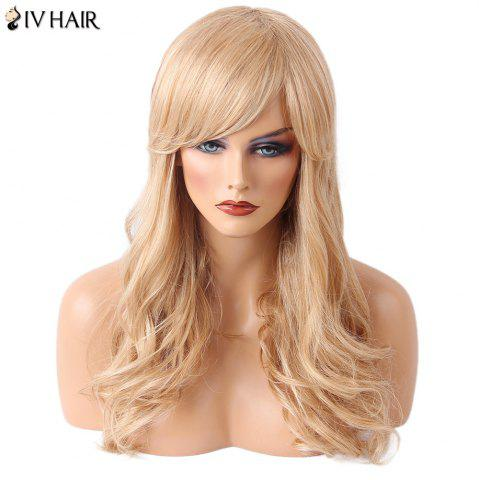 Best Siv Hair Long Side Bang Wavy Human Hair Wig - BLONDE  Mobile