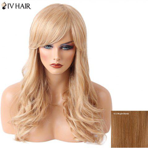 New Siv Hair Long Side Bang Wavy Human Hair Wig - LIGHT BLONDE 18/27#  Mobile