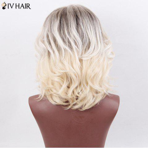 Best Siv Hair Medium Layered Side Bang Slightly Curly Colormix Human Hair Wig - COLORMIX  Mobile