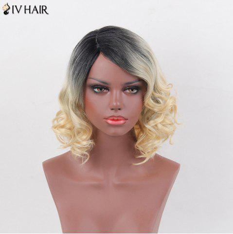 New Siv Hair Side Part Short Curly Bob Human Hair Wig - COLORMIX  Mobile