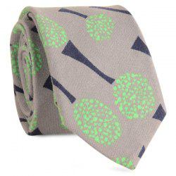 Cotton Blending Cartoon Dandelion Printed Neck Tie