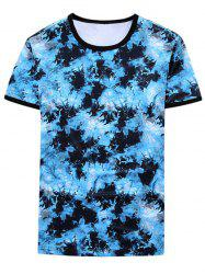 Short Sleeve Tie Dyed Ringer Tee