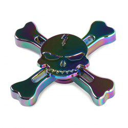 Skull Finger Gyro Stress Relief Toy Pirates Alloy Fidget Spinner - COLORMIX