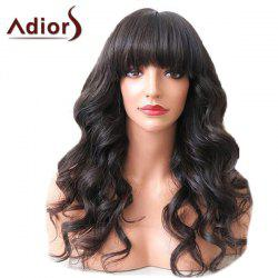 Adiors Long Full Bang Shaggy Wavy Synthetic Wig