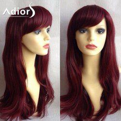 Adiors Side Bang Silky Long Straight Synthetic Wig