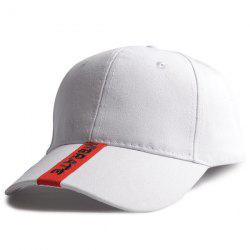 Letters Embroidery Single Stripe Spliced Baseball Hat