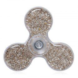 Flowing Glitter Powder Plastic Fidget Spinner Fiddle Toy -