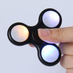 Tri-Spinning Plastic LED Light Fidget Finger Spinner -
