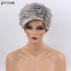 Siv Hair Short Side Bang Layered Straight Colormix Human Hair Wig - COLORMIX