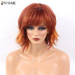 Siv Hair Side Bang Layered Short Natural Straight Human Hair Wig