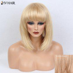 Siv Hair Full Bang Medium Silky Straight Bob Human Hair Wig