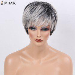 Siv Hair Side Bang Straight Short Colormix Human Hair Wig