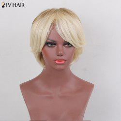 Siv Hair Colormix Short Side Bang Two Tone Straight Human Hair Wig