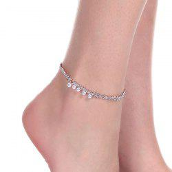 Faux Pearl Rhinestone Anklet