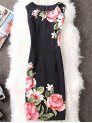 Flower Print Pencil Dress