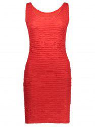 Ruched Bodycon Sleeveless Mini Dress