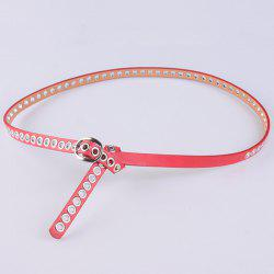 Hollow Out Circle Rings Faux Leather Belt