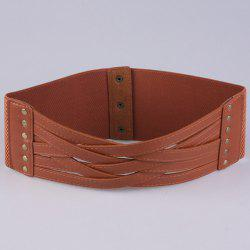 Faux Leather Cross Bandage Elastic Corset Belt