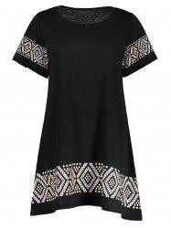 Geometry Print Mini Tee Dress
