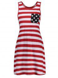 Fringed American Flag Mini Trapeze Dress