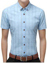 Slim Fit Grid Check Short Sleeve Shirt