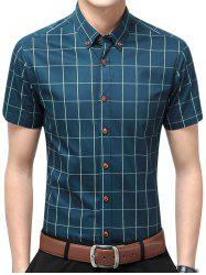 Slim Fit Short Sleeve Plaid Shirt