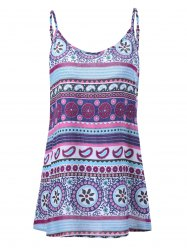Trible Print Plus Size Tank Top