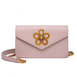 Flower Turnlock Chain Cross Body Bag