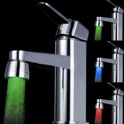 LED Light Water Stream Color Change Luminous Faucet - STAINLESS STEEL
