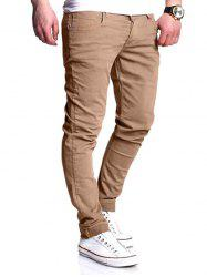 Basic Zipper Fly Straight Leg Pants