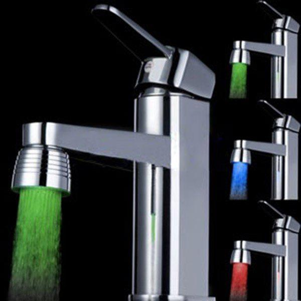 Trendy LED Light Water Stream Color Change Luminous Faucet