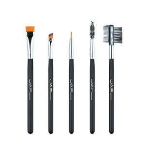 5Pcs Nylon Beauty Eye Makeup Brushes Set - Black