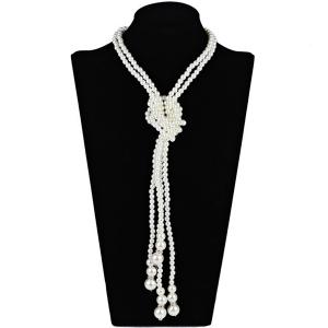 2PCS Statement Graduated Pearl Necklaces