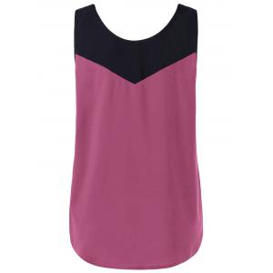Curved Plus Size Two Tone Tank Top -