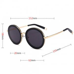 Red Lens Gold Frame Sunglasses : Gold Frame/red Lens C Hollow Out Leg Anti Uv Round ...