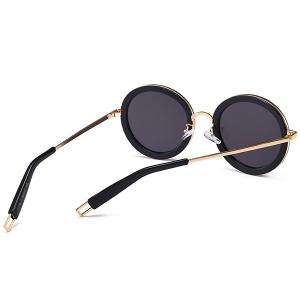Hollow Out Leg Anti UV Round Sunglasses -